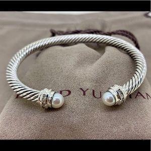 David Yurman 5mm Cable Classic Bracelet Pearl